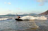 Kitesurfer on Farmara beach